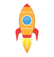 Yellow Rocket vector image