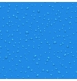Transparent water drops seamless pattern vector image