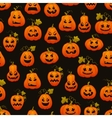 Halloween seamless pattern with pumpkins scary vector image