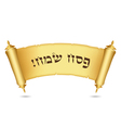Happy Passover Hebrew scroll of the law vector image vector image