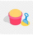 bucket and shovel for childrens sandbox isometric vector image vector image