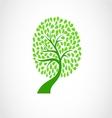 Tree silhouette icon vector image vector image