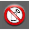 No Phones Sign vector image