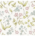 Beautiful seamless pattern with Forget-me not and vector image