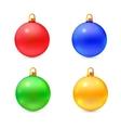 Set of isolated realistic chrismas balls vector image