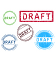 5 Grunge Stamps DRAFT vector image