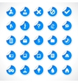 stickers with icons vector vector image vector image