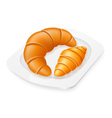 croissants on a plate 01 vector image
