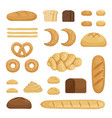 different sorts of bread pictures of vector image