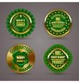 Golden badges vector image