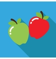Icon of flat apples vector image