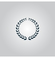 Laurel wreath icon or sign i vector image