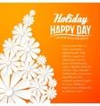 Paper flower postcard vector image