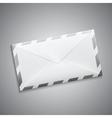 retro envelope with stripes vector image