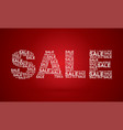 sale text designed using sale text promotion sign vector image