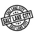salt lake city black round grunge stamp vector image