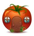 Stylized of fresh ripe tomato vector image