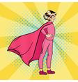 Super Girl Girl Super Hero Supergirl Standing vector image