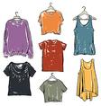 Women fashion t shirt collection set vector image