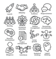 Business management icons in line style Pack 01 vector image