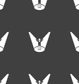 Spotlight icon sign Seamless pattern on a gray vector image