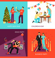 party concept set vector image