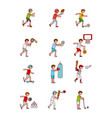 assorted sports image vector image