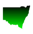 Map of New South Wales vector image