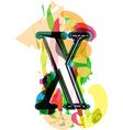 Artistic Font - Letter X vector image