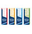 air ticket boarding travel set in color vector image