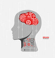 creative brain concept background vector image