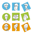 Face icons vector image