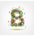Floral letter for your design vector image