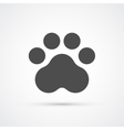 Footprint paw trendy icon vector image