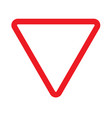 give way sign icon on white background give way vector image