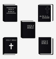 holly bible book pictogram set icons isolated vector image