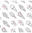 Ice Cream Pattern Black White vector image