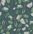 Lake plants flora pattern background vector image
