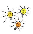 light bulb set vector illustr vector image