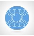 Scallop round icon vector image