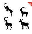 Set of black silhouette Goats icon isolated on vector image