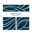 set water wave logo abstract design vector image