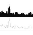 silhouette of city 4 vector image