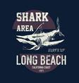t shirt print design shark vintage vector image
