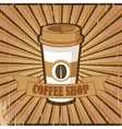 Vintage brown poster Coffee shop vector image