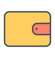 wallet line icon 48x48 simple minimal pictogram vector image