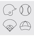 Ball helmet league and cap of baseball sport vector image