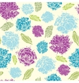 Textured painted flower seamless pattern vector image