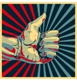 Hand showing thumbs up vector image vector image