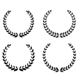 Black laurel wreaths set vector image vector image